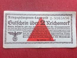 ALLEMAGNE Billet De 2 Reichsmark Camps De Prisonniers TTB état - Autres