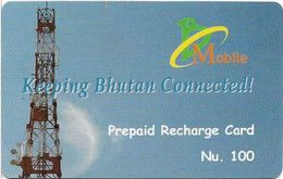 Bhutan - BMobile - Telecommunications Equipment #1 - GSM Refill 100Nu, Used - Bhutan