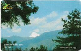 Bhutan - BMobile - Vista Bhutan Landscape - GSM Refill 200Nu, Used - Bhutan