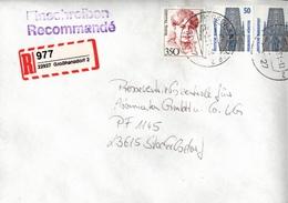 ! 1 Einschreiben 1994, Selbstklebender R-Zettel Aus Großhansdorf, 22927 - BRD