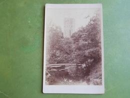 CDV PHOTO 1885  HERAULT LAMALOU SEPTEMBRE 1885 TOUR ET PASSERELLE DU PETIT VICHY LAMALOU LE HAUT SUPERBE - Cartes De Visite