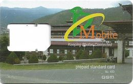 Bhutan - BMobile - Keeping Bhutan Connected., Prepaid Standard GSM SIM, Used/Frame - Bhutan