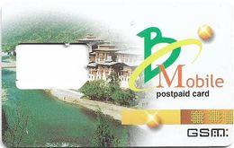 Bhutan - BMobile - Postpaid GSM SIM Card, Used/Frame - Bhoutan