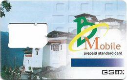 Bhutan - BMobile - Prepaid Standard GSM SIM Card, Used/Frame - Bhoutan