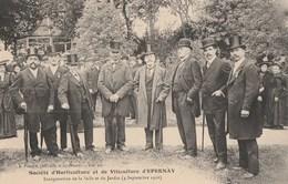LE 4.09.1910, A EPERNAY - INAUGURATION DE LA SALLE ET JARDIN DE LA STE D'HORTICULTURE ET VITICULTURE - SUPERBE CARTE - Inaugurations