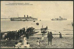 HELGOLAND 1907, KUPFERDRUCK-PK, ABB: TURB-DAMPFER KAISER VOR HELGOLAND - Helgoland