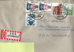 ! 2 Einschreiben 1994, R-Zettel Aus Heiligenhafen, 23774 - BRD