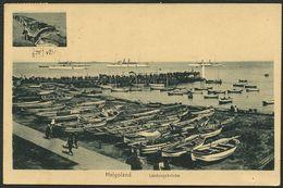 HELGOLAND 1925, KUPFERDRUCK-PK, GESAMTANSICHT, LANDUNGSBRÜCKE, SST HELGOLAND - Helgoland