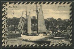 HELGOLAND 1906, LICHTDRUCK-PK, ABB: UNTERLAND IM JUGENDSTILRAHMEN STPL HELGOLAND - Helgoland