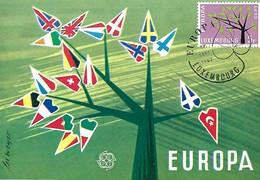 17.9.1962  -  EUROPA - Etude Par Lex Weyer - Artiste Luxembourgeois - Cartes Maximum