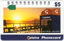 AUSTRALIA A-483 Optical Telstra - Communication, Phone Booth - Used - Australia