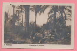 Tripoli - Famiglia Di Beduini - Libia