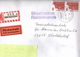 ! 1 Einschreiben Mit Rückschein 1996, R-Zettel Aus Hohenwestedt, 24594, Schleswig-Holstein - BRD