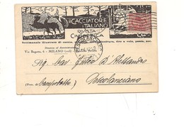 P170 PUBBLICITARIA CACCIA GIORNALE RIVISTA CINEGETICA 1928 VIAGGIATA ILLUSTRATA DOMINIONI ??? - Cartes Postales