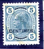 AUSTRIAN POST ON CRETE ( Kreta) 1904 5 C. Perforated 13:12½ MNH / **.  Michel/ANK 8B Cat. €100 - Levant Autrichien
