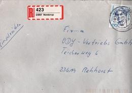 ! 1 Einschreiben 1993, Selbstklebender R-Zettel Aus Wanderup, 24997 - BRD
