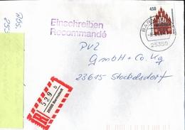 ! 1 Einschreiben 1993,  R-Zettel Aus Barmstedt, 25355 , Schleswig-Holstein - BRD
