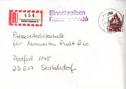 ! 2 Einschreiben 1994, 1997,  R-Zettel Aus Itzehoe, 25524 - BRD
