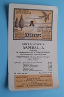 ASPERAL - A Suppositoria / Labo Asperal HOVE Boechoutsestwg. - Apotheker Vansteenkiste ( +/- 11,5 X 20 Cm. > Zie Foto ) - Produits Pharmaceutiques