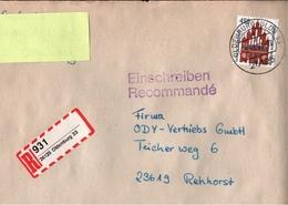 ! 2 Einschreiben 1993, 1994, 1 X Selbstklebender R-Zettel Aus Oldenburg, 26125 - BRD