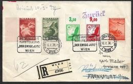 """1938 JUDAICA - OSTMARK ÖSTERREICH, R-Brief Mit Mischfrankatur Sndrstpl. """"DER EWIGE JUDE"""" - Covers & Documents"""