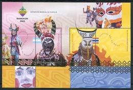 """BANGKOK 2003"" EXPOSICION MUNDIAL DE FILATELIA, CARNAVALES. ARGENTINA GOTTIG JALIL HB 159 HOJA BLOCK FEUILLET MNH -LILHU - Costumes"