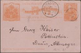 Haïti 1905. Carte, Entier Avec Réponse Payée  (demande Seule), Pour L'étranger. A Potternstein Bavière. Non Philatélique - Haiti