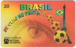 BRASIL H-637 Magnetic Telebras - Sport, Soccer, World Cup, Flags Of The World - Used - Brazil
