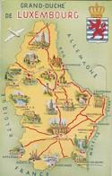 Le Grand Duché Du Luxembourg , Carte à Système , Petite Vue De  Mondorf Les Bains - Mondorf-les-Bains