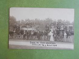 CARTE PHOTO FORET DE FONTAINEBLEAU LA STELLA VOITURE HYPPOMOBILE POUR LES PROMENEURS 1908 NEUBE EXC ETAT - Fontainebleau
