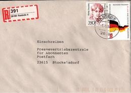 ! 1 Einschreiben 1994, Selbstklebender R-Zettel Aus Rastede, 26180 - BRD