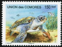 COMOROS Comores 2014 Turtle Reptiles Animals Fauna MNH - Tartarughe