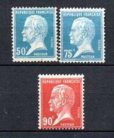 France Beau N° 176 à 178  **  A Saisir !!! - 1922-26 Pasteur