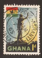 GHANA. POSTMARK MAMPONG ASHANTI. 1d USED - Ghana (1957-...)