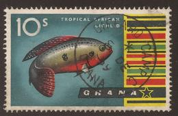 GHANA. POSTMARK GIFFARD CAMP. 10/- USED - Ghana (1957-...)