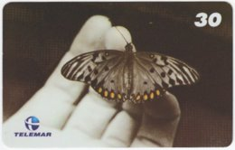 BRASIL I-684 Magnetic Telemar - Animal, Butterfly - Used - Brazil