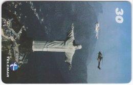 BRASIL I-686 Magnetic Telemar - Landmark, Christ The Redeemer - Used - Brazil