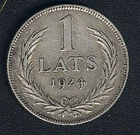 Lettland, 1 Lats 1924, Silber - Lettonie