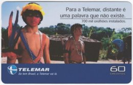 BRASIL I-710 Magnetic Telemar - Culture, Native People - Used - Brazil