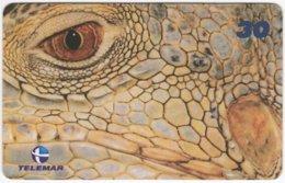BRASIL I-718 Magnetic Telemar - Animal, Crocodile - Used - Brazil