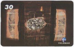 BRASIL I-724 Magnetic Telemar - Culture, Native Art - Used - Brazil