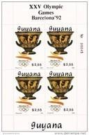 Guyana Nº Michel 3064 Al 3069 En Hojas De 4 Series - Verano 1992: Barcelona