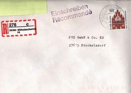 ! 6 Einschreiben 1993-97, Dabei 4 Selbstklebende R-Zettel Aus Wilhelmshaven, 26382, 26384, 26386, 26388, - BRD