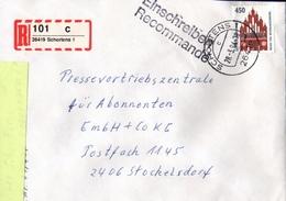 ! 1 Einschreiben 1994 Mit Selbstklebenden R-Zettel Aus 26419 Schortens - BRD