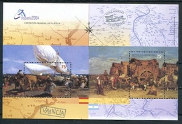 ESPAÑA 2004 EXPOSICION FILATELICA MUNDIAL. ARGENTINA JALIL-GOTTIG: HB 159 HOJITA BLOC FEUILLET MNH TBE - LILHU - Blokken & Velletjes