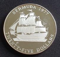 Bermuda 25 Dollars 1977 - Elizabeth II Silver Jubilee - Bermuda