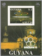 Guyana  6 Hb Bordes De Plata - Verano 1992: Barcelona