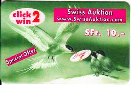 SWITZERLAND - Birds, Global Line Prepaid Card SFr. 10, Exp.date 30/09/00, Used - Switzerland
