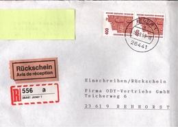 ! 1 Einschreiben Mit Rückschein 1993 Mit Selbstklebenden R-Zettel Aus 26441 Jever - BRD