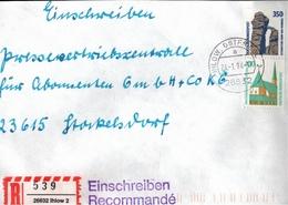 ! 1 Einschreiben  1994 Mit  R-Zettel Aus 26632 Ihlow In Ostfriesland - BRD